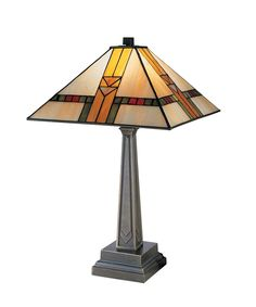 """Mission 13"""" 1 Light Table Lamp in Chocolate Bronze: 1 Light Table Lamp in Chocolate Bronze"""