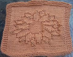 Dishcloth Knitted Sunflower Pattern