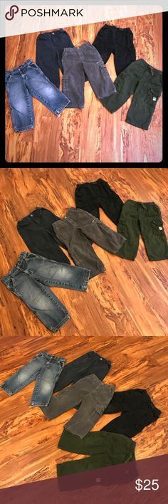 3T Boys Assorted pants bundle! 5 pair. All EUC!! 5 great pairs of pants in size 3T! Great deal for your little boy (or tomboy;)) for fall. Assorted brands and colors. Cargo, corduroy, jeans, etc. All in excellent condition, some barely worn, if at all. Any questions just ask!! Bottoms