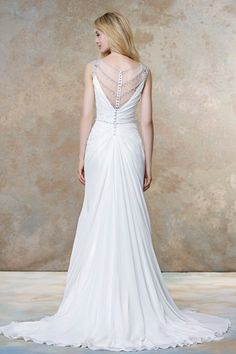 MagBridal Bridal Dresses Online,Wedding Dresses Ball Gown, flowing tulle chiffon v neck shath wedding dresses with beadings Flowing Wedding Dresses, 2016 Wedding Dresses, Wedding Bridesmaid Dresses, Wedding Gowns, Bridal Dresses Online, Bridal Gowns, Kate Middleton, Ball Dresses, Ball Gowns