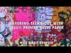 Spray Inks on the Gelli Arts® Printing Plate - YouTube