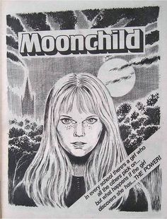 Misty comic - The 'Moonchild' story which was based on the film 'Carrie'