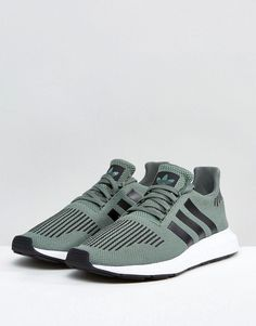 567056b31a43e adidas Originals Swift Run Sneakers In Green CG4115