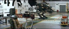 Vincent syncing to his mech in Neill Blomkamp's 'Chappie. Neill Blomkamp, Cyberpunk, Concept Art, Robots, Moose, Lab, Fiction, Tech, Science