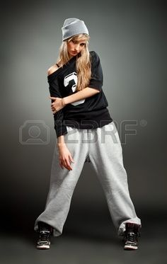 ragazza alla moda hip hop photo