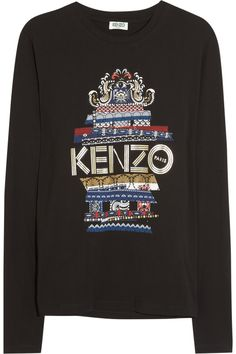 KENZO|Printed cotton-jersey top|NET-A-PORTER.COM