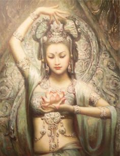 """Quan Yin (sometimes spelled Kuan Yin, Kwan Yin or Guan Yin) is the Bodhisattva of compassion, revered by Buddhists as the Goddess of Mercy. A Bodhisattva is an """"enlightenment being"""" pledged to universal liberation and happiness. Divine Goddess, Goddess Art, Goddess Quotes, Tara Goddess, Goddess Tattoo, Mother Goddess, Ishtar Goddess, Aphrodite Goddess, Beautiful Goddess"""