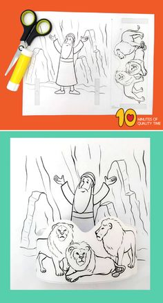 Daniel in the lion's den activity sheets Preschool Bible Lessons, Bible Activities For Kids, Bible Crafts For Kids, Preschool Activities, Toddler Sunday School, Sunday School Crafts For Kids, Sunday School Activities, Daniel Bible Crafts, Idees Cate