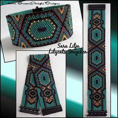 Loom Bracelet Patterns, Peyote Stitch Patterns, Bead Embroidery Patterns, Bead Loom Bracelets, Bead Loom Patterns, Beaded Jewelry Patterns, Beading Patterns, Beading Tutorials, Bead Jewelry
