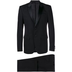 GIVENCHY Peak Lapel Suit ($2,030) ❤ liked on Polyvore featuring men's fashion, men's clothing and men's suits