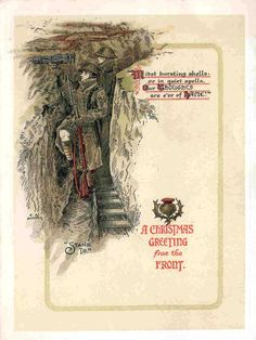 World War I Christmas Card sent home from the front line