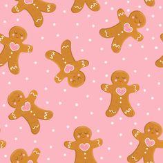 Glam Wallpaper, Sanrio Wallpaper, Iphone Wallpaper, Cute Christmas Wallpaper, Christmas Background, Christmas Scenes, Pink Christmas, Christmas Gingerbread Men, Christmas Illustration
