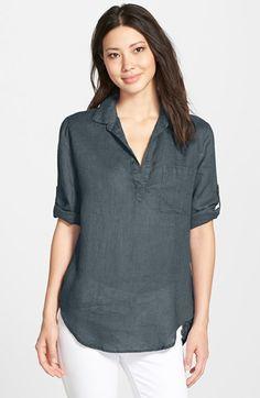 Side Stitch Linen Shirt | Nordstrom
