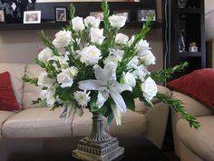 All white fresh cut flowers  by Christian Andrew