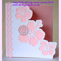 Shirley's Cards: Hibiscus Card Freebie