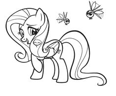 Timykids Pretty Pony Coloring Pages