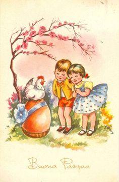 Happy Easter 1963 Easter Illustration, Children's Book Illustration, Easter Art, Easter Bunny, Happy Easter, Easter Pictures, Easter Greeting Cards, Easter Traditions, Vintage Easter