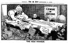 A British cartoon published in September 1923.