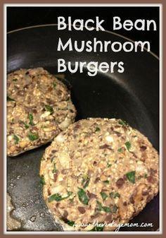 Black Bean Mushroom Burgers {A Vegan Treat}