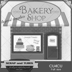 Bakery Shop Template | CU/Commercial Use #digitalscrapbooking at CUDigitals.com