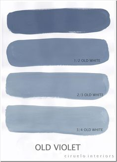 "Old Violet Excellent info from Ciruelo Interiors Blog; ""Annie Sloan Chalk Paint lovers: Here is my extended colours range"" show how the colors can be mixed to achieve huge color range~"