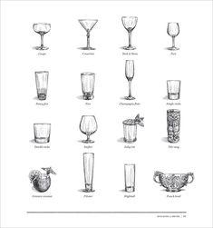 Death & Co Book - Tim Tomkinson Illustration Menu Illustration, Food Illustrations, Reception Invitations, Cocktail Menu, Drink Menu, Menu Design, Bottle Design, Logo Inspiration, Designs To Draw