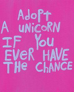 Word Art Painting Pink Unicorn - Nayarts. $50.00, via Etsy.