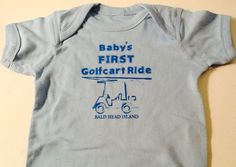 Onesie - First Cart Ride - Blue