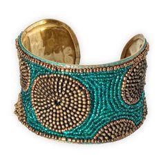 Fair Trade Fair Trade Zipper Beaded Cuff Bracelet from fairindigo.com