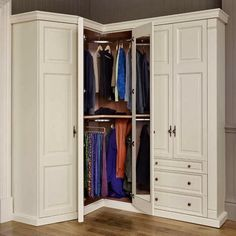 corner armoire wardrobe - Corner Wardrobe Organization Ideas to Maximize the Empty Spot – Home Design Studio Corner Wardrobe Closet, Small Bedroom Wardrobe, Bedroom Closet Design, Built In Wardrobe, Closet Designs, Bedroom Storage, Armoire Wardrobe, Ikea Wardrobe, Bedroom Closets
