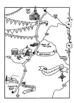 Custom Wedding Map- Digital File