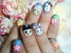 Tamagotchi nail art