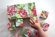 an awesome preschooler gift idea-- fabric block puzzle.   Fun to play with as blocks for kids who can't quite do the puzzle part yet.