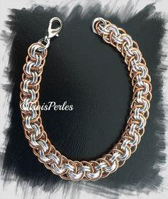 23  Chain Maille Armband  Chainmaille Bracelet von TroisPerles