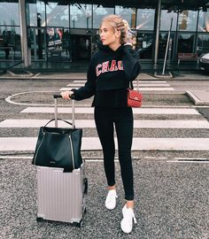 """XENIA VAN DER WOODSEN on Instagram: """"✈️✈️✈️✈️ MUC for 3 days #airportlife #traveloutfit #UOonyou"""""""