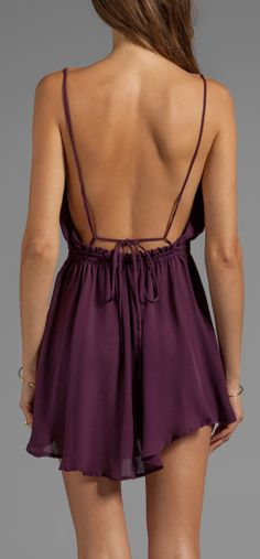 Burgundy backless dress