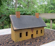 Cool salt box house with night light, on ebay