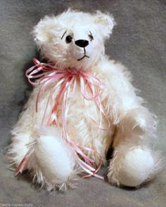 Schulte New White Distressed Mohair and Free Teddy Bear Pattern