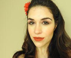 Maquiagem de primavera verão!! Pele natural bastante iluminada e tons quentes. #maquiagem #makeup #summer #spring #verão #primavera #tendencias #batomlaranja