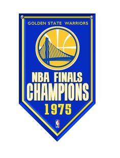 Golden State Warriors retro 1975 NBA Finals Championship Rafter Banner Magnet #GoldenStateWarriors