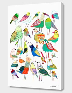 """""""Birdds"""", Numbered Edition Canvas Print by Ashley Percival - From $69.00 - Curioos"""