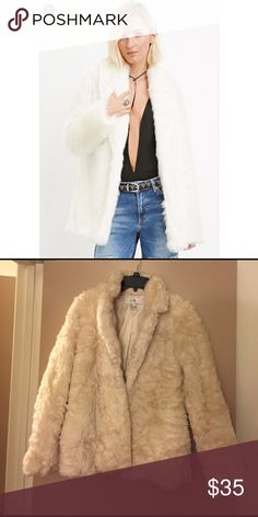 Forever 21 Faux Fur Cream Coat NWOT. NO TRADES Forever 21 Jackets & Coats Puffers