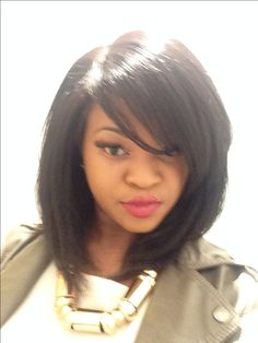 12 inch bob brazillian hair lace closure full wig natural black (cutting it son for a more layered look)