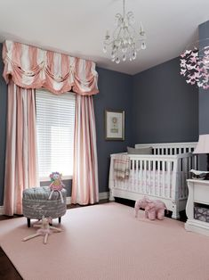 Pictures of Baby Girl Nursery Rooms for Your Inspirations: Stunning Pictures Of Baby Girl Nursery Rooms With Loft Window Covering Hanging Lighting Ottoman Area Rug Side Table  ~ wzfjsh.com Kids Room Designs Inspiration