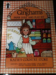 The Ginghams Paper Doll and Play Set