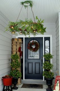 Hang my Advent and/or Christmas wreaths horizontally, high or lower, inside or outside.