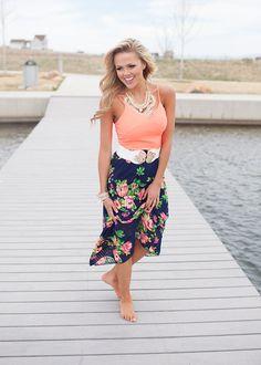 Online boutique. Best outfits. Neon Floral Maxi Dress - Modern Vintage Boutique