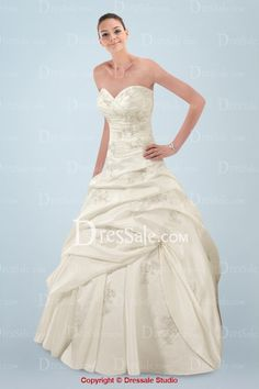 Ball Gown Wedding Dress with Numerous Appliqués