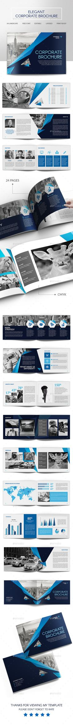 Elegant Corporate Brochure Template #design Download: http://graphicriver.net/item/elegant-corporate-brochure/14333524?ref=ksioks