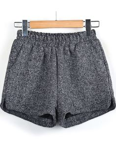 Grey Tweed Shorts-- I could see this with tights, beans and high socks! Cuteee